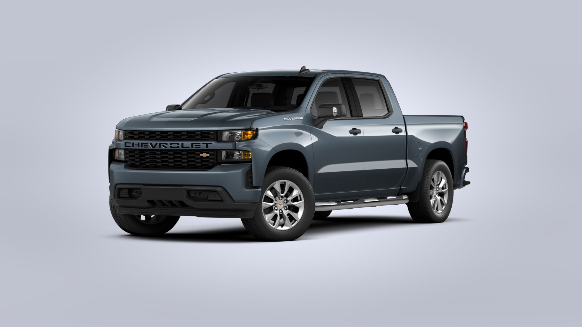 New 2020 Chevrolet Silverado 1500 Custom Rear Wheel Drive Crew Cab